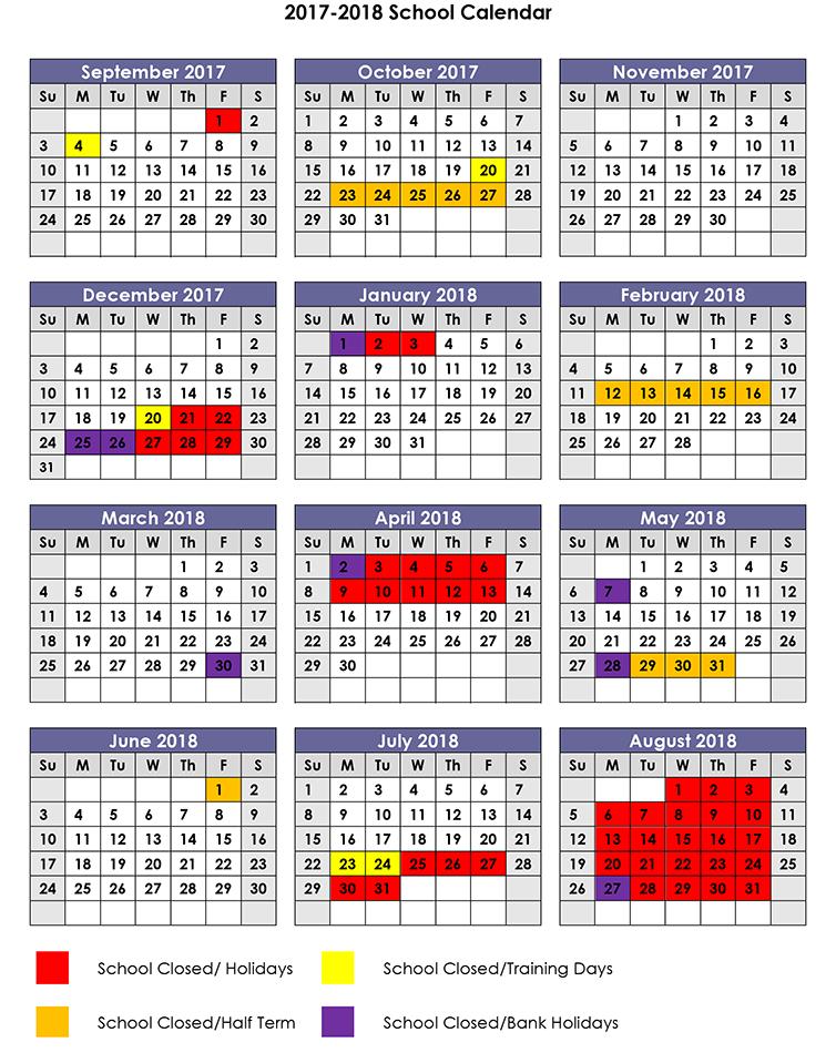 2017-2018 Term Dates